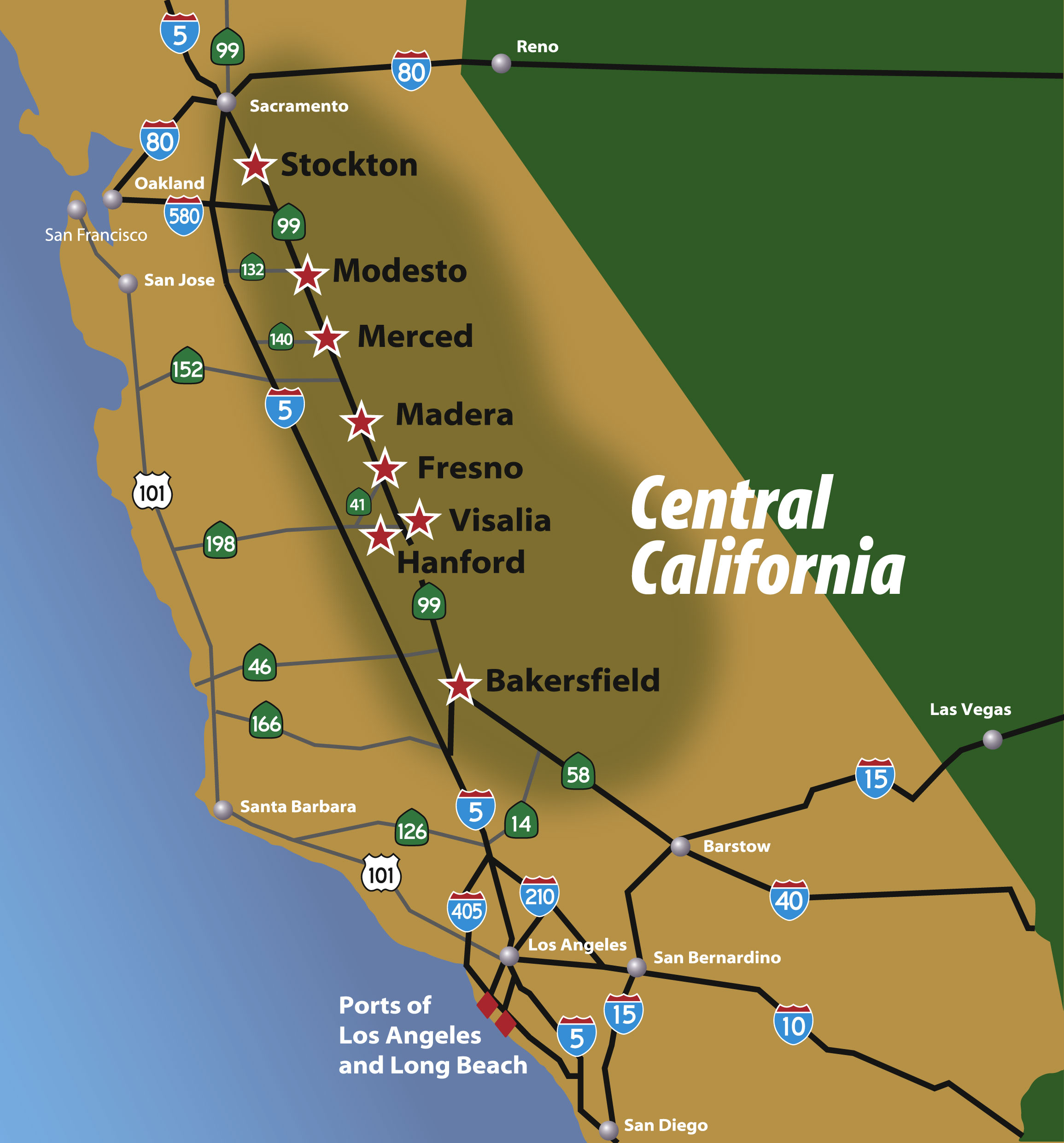 Map Of Central California Regional Maps – Central California Map Of Central California